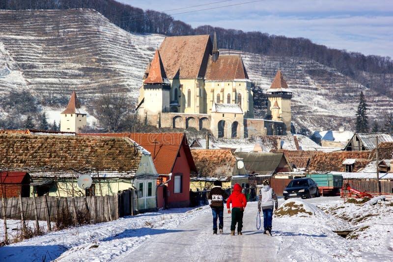 Église enrichie de Biertan image libre de droits