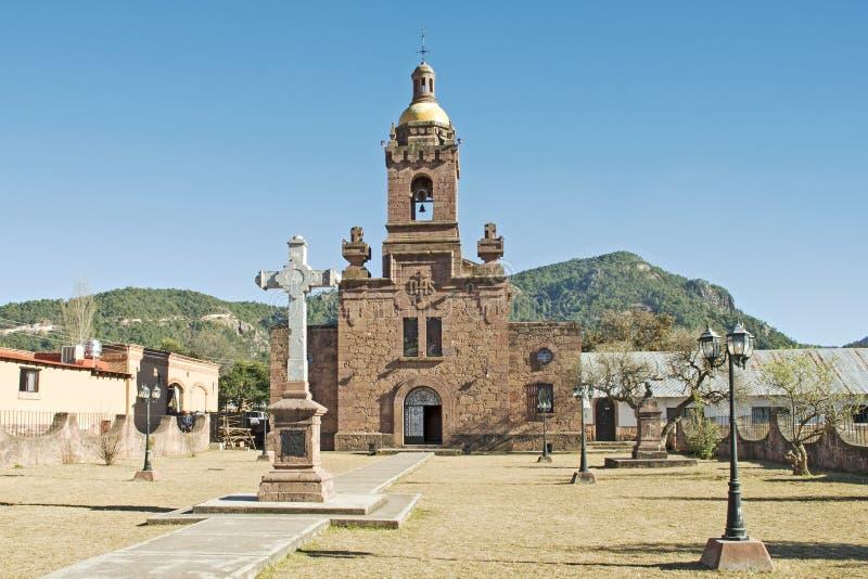 Église espagnole Cerocahui de mission photos libres de droits