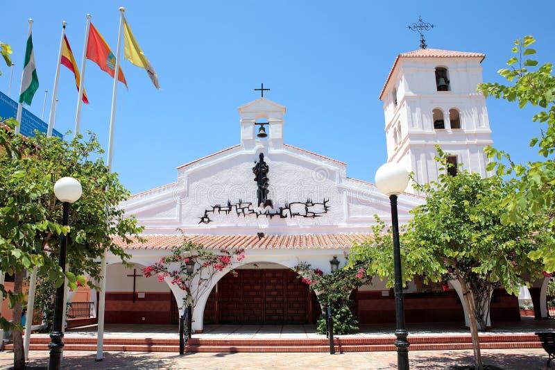 Église espagnole sur la côte De image libre de droits