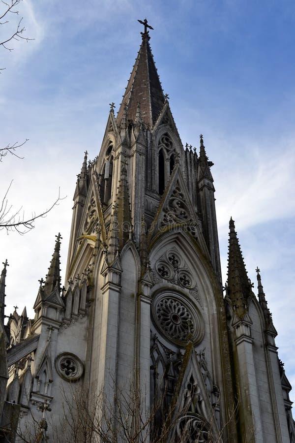 Église gothique à Montevideo photos libres de droits