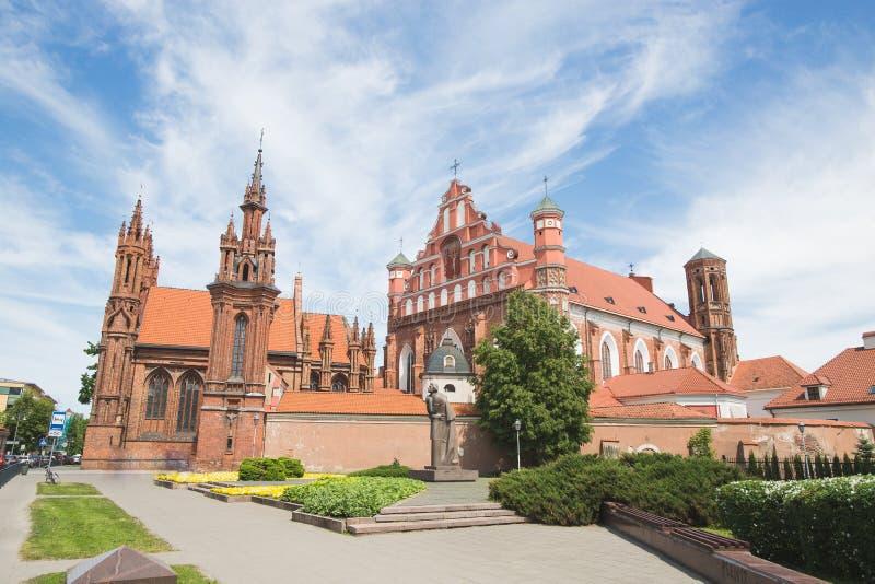 Église gothique à Vilnius photographie stock