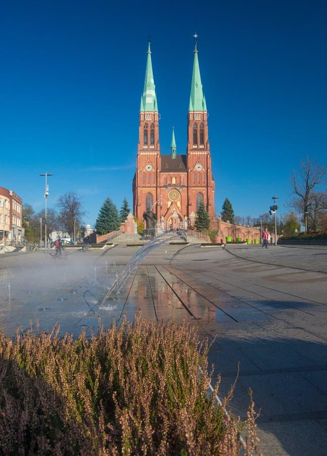 Église gothique de Rybnik, dans le sud de la Pologne image libre de droits