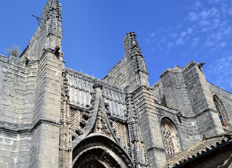 Église gothique de San Miguel, Jerez images libres de droits