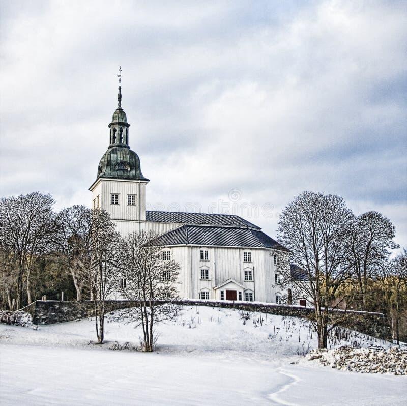 Église HDR de Jevnaker image stock