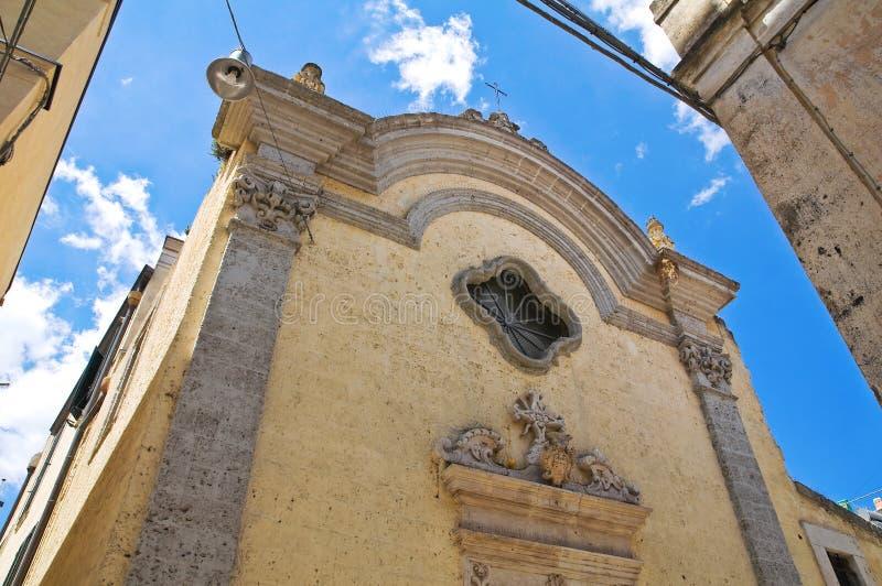 Église historique Altamura La Puglia l'Italie image libre de droits