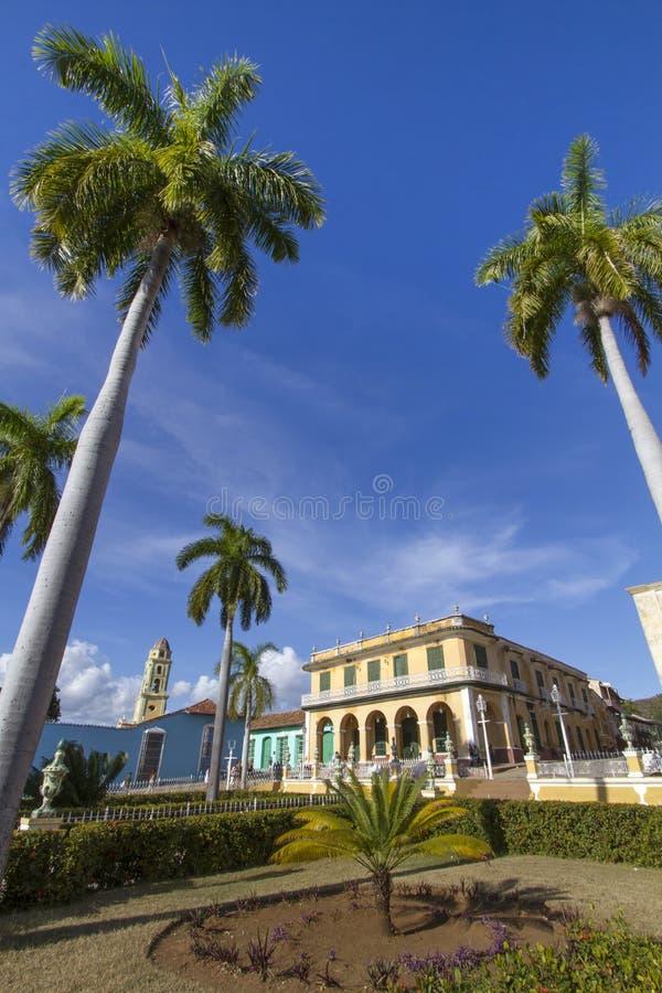 Église historique dans la ville du Trinidad, Cuba photo stock