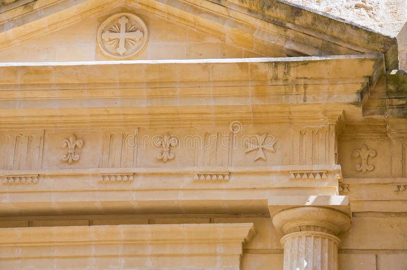 Église historique Matera Basilicate l'Italie photos stock