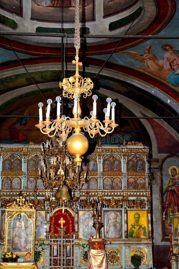 Église intérieure de monastère de Suzana image stock