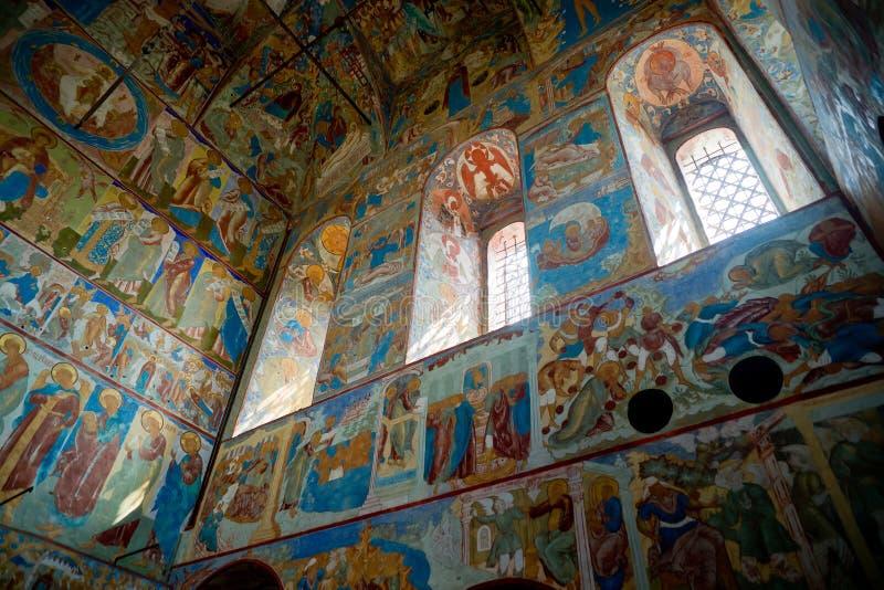 Église intérieure de rue John l'évangéliste dans Rostov image libre de droits