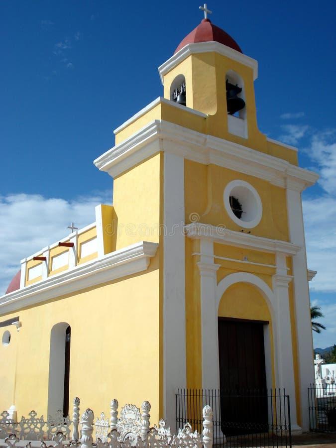 Église jaune images libres de droits