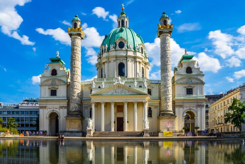 Église Karlskirche de Vienne Wien, Autriche image stock