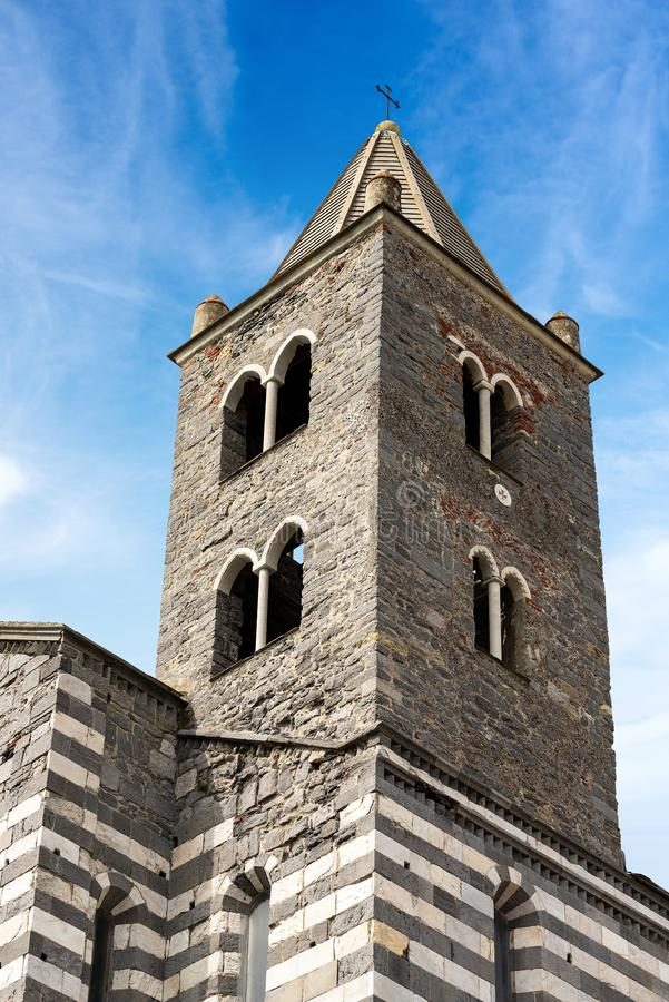 Église médiévale de St Peter - Porto Venere Ligurie Italie image stock