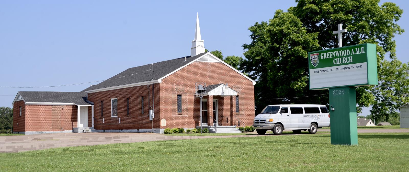 Église méthodiste africaine de Greenwood, Millington, TN images libres de droits