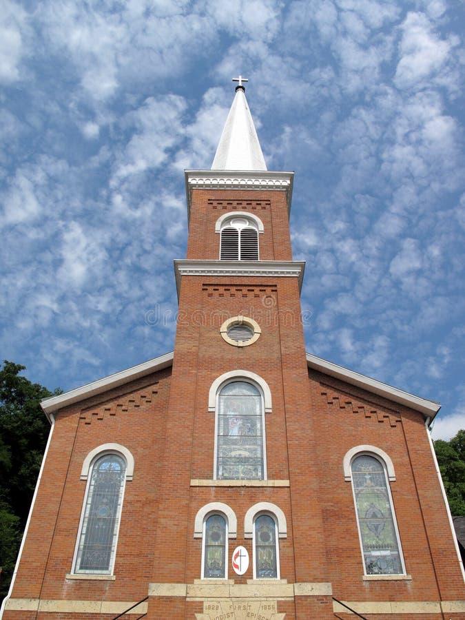 Église Méthodiste De Brique Photo libre de droits