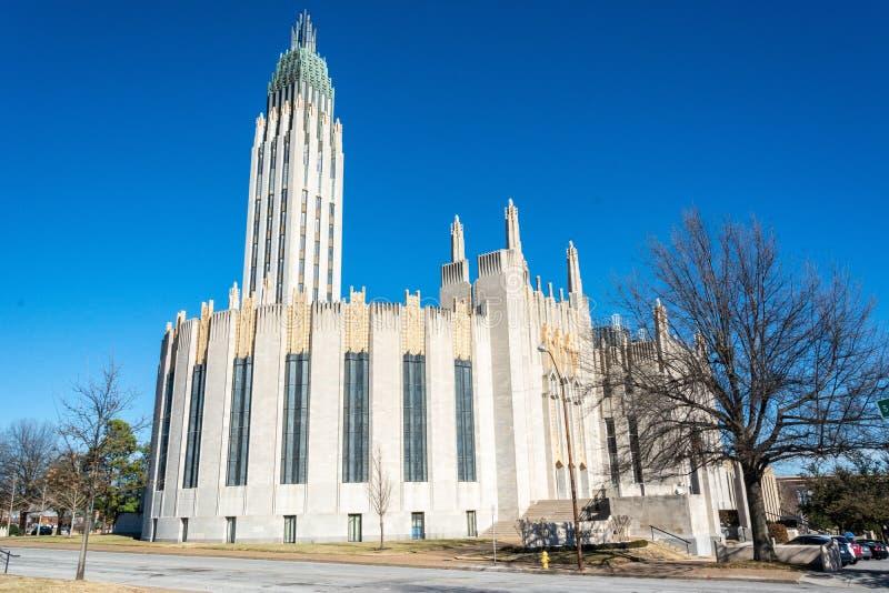 Église Méthodiste Unie d'avenue de Boston à Tulsa, CORRECTE photos stock