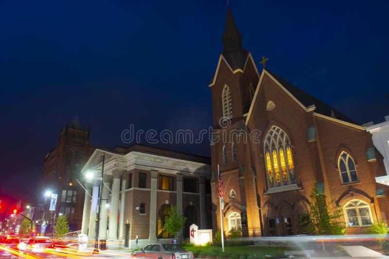 Église Méthodiste Unie de Main Street, Nashua, NH, Etats-Unis image libre de droits