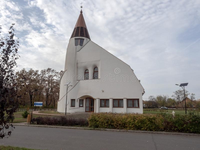 Église moderne du ¡ GY, Hongrie de Hortobà photos stock