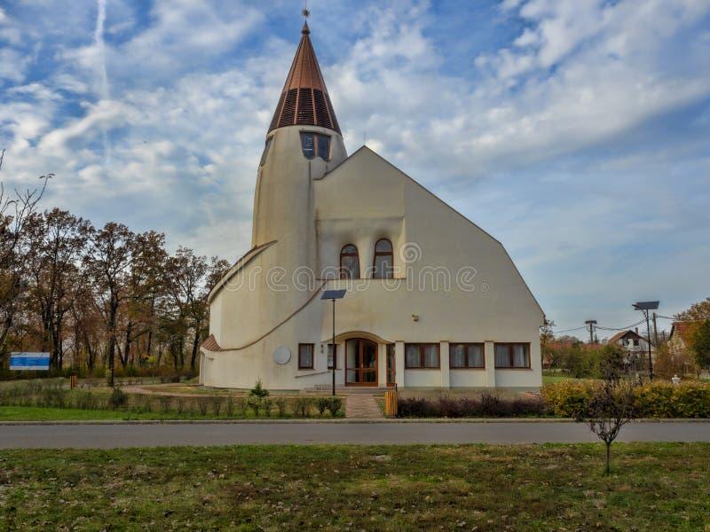 Église moderne du ¡ GY, Hongrie de Hortobà image stock
