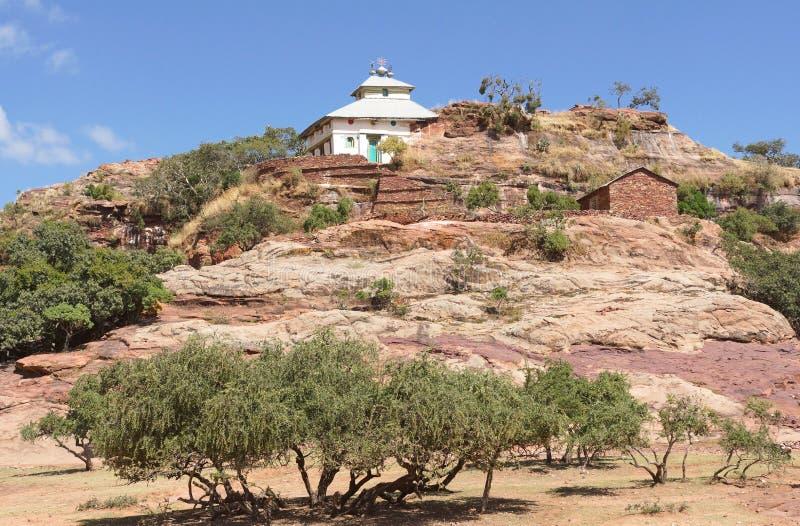 Église monolithique, Ethiopie, Afrique image stock