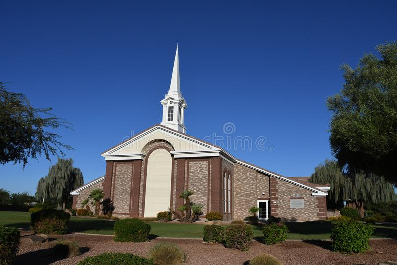 Église mormone photographie stock