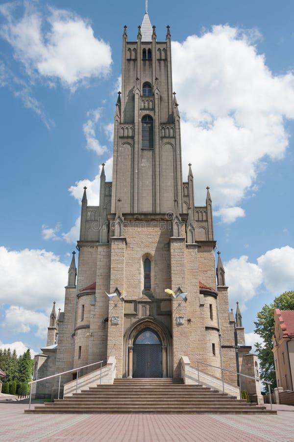 Église néogothique catholique consacrée à notre Madame du Scapular dans Imielin photo stock