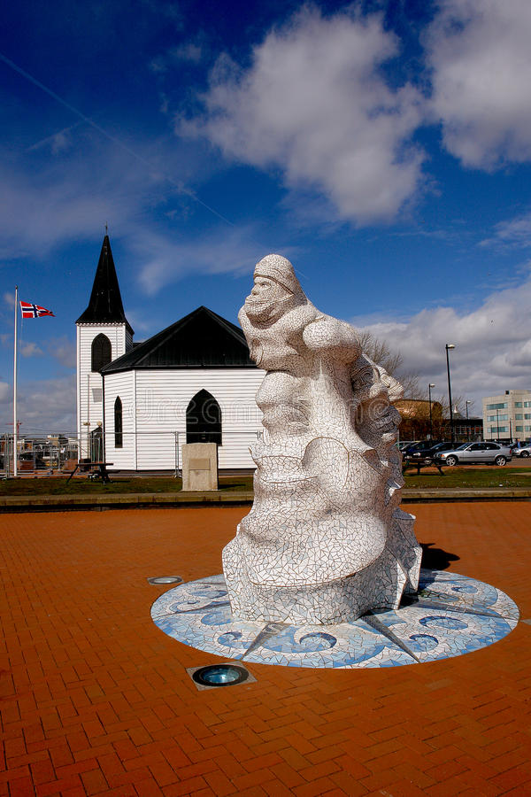Église norvégienne dans le compartiment de Cardiff, Pays de Galles. image libre de droits
