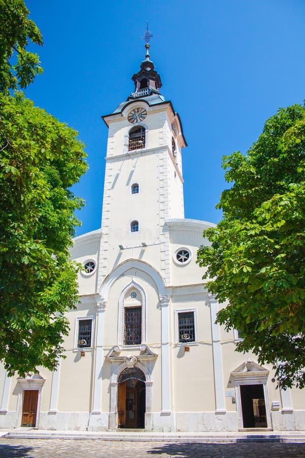 Église Notre-Dame de Trsat à Rijeka en Croatie image libre de droits