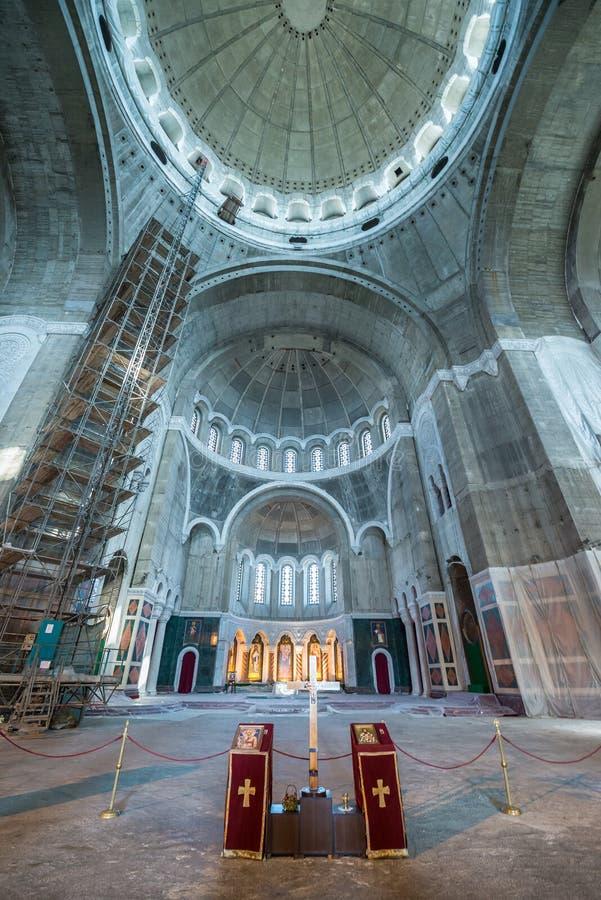 Église orthodoxe à Belgrade images libres de droits