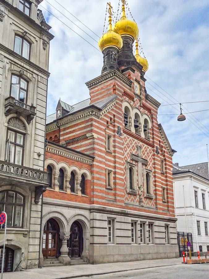 Église orthodoxe à Copenhague photographie stock