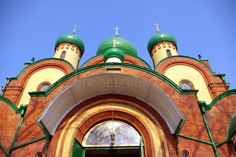 Église orthodoxe au monastère photo libre de droits