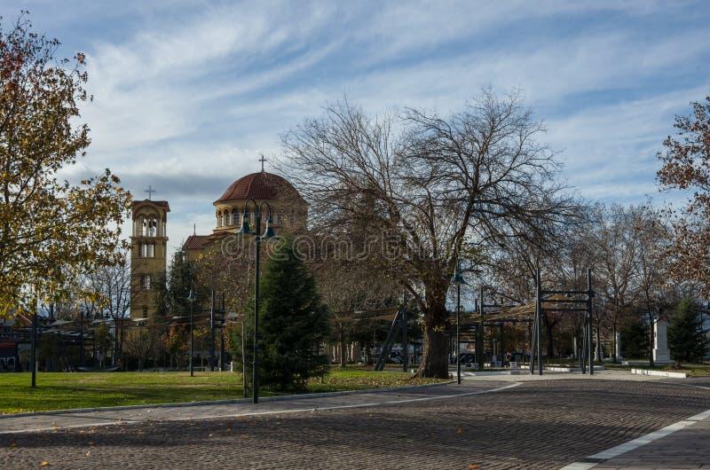 Église orthodoxe d'Agios Achillios placée dans la région de Frourio dans Lariss photo stock