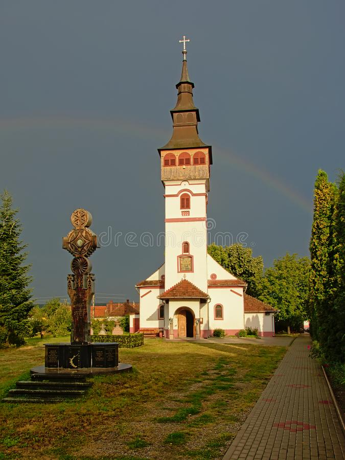 Église orthodoxe d'hypothèse dans ORastie, Roumanie photographie stock