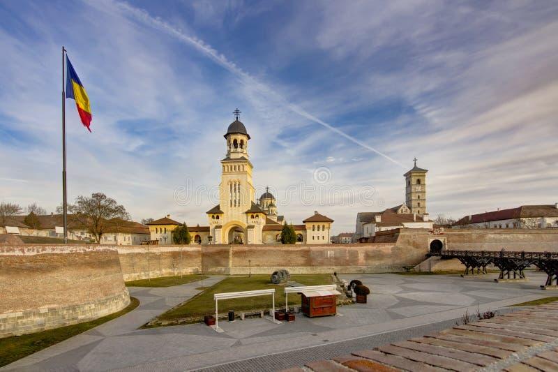 Église orthodoxe de réunification dans alba-Iulia images stock
