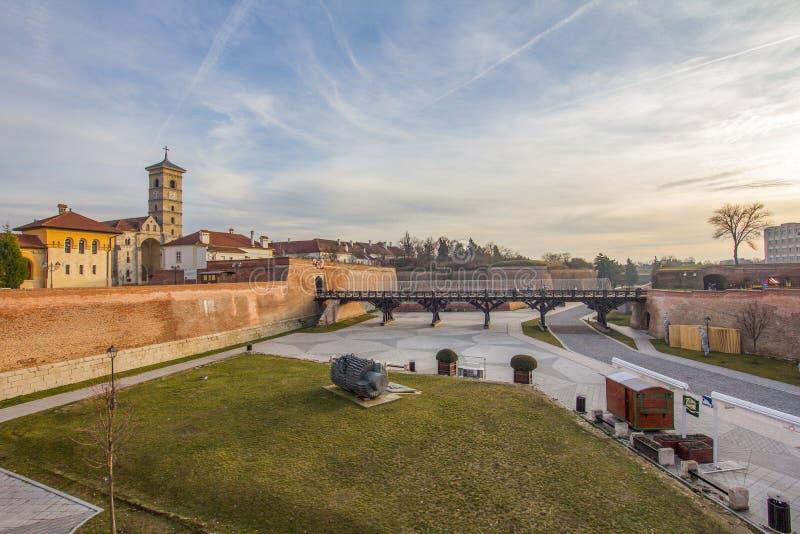 Église orthodoxe de réunification dans alba-Iulia photographie stock libre de droits