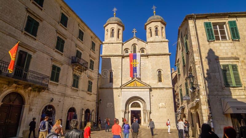 Église orthodoxe de Saint-Nicolas dans Kotor, Monténégro image libre de droits