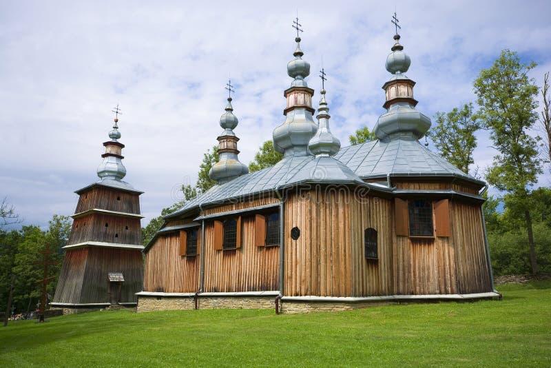 Église orthodoxe en bois image stock