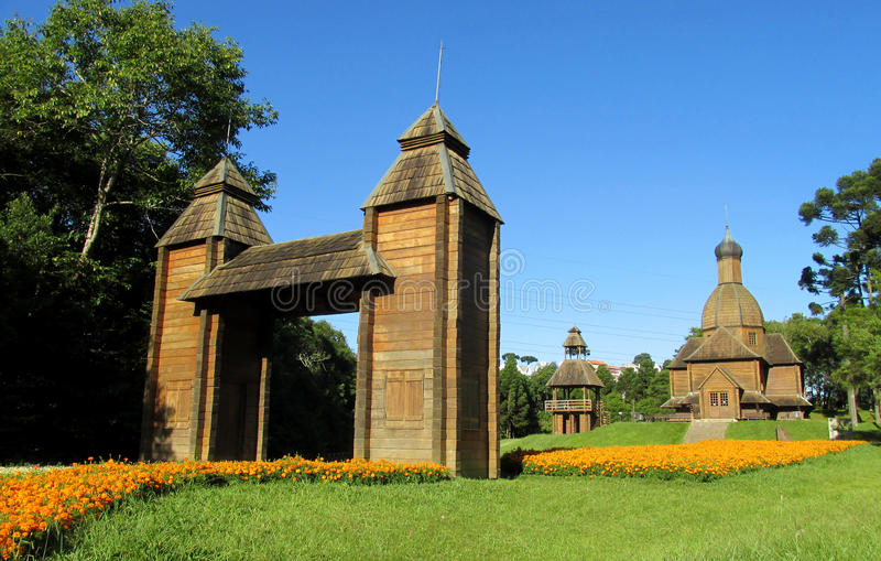 Église orthodoxe en bois photo libre de droits