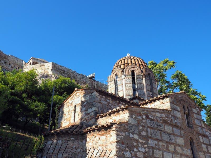 Église orthodoxe grecque bizantine, Athènes, Grèce photo libre de droits