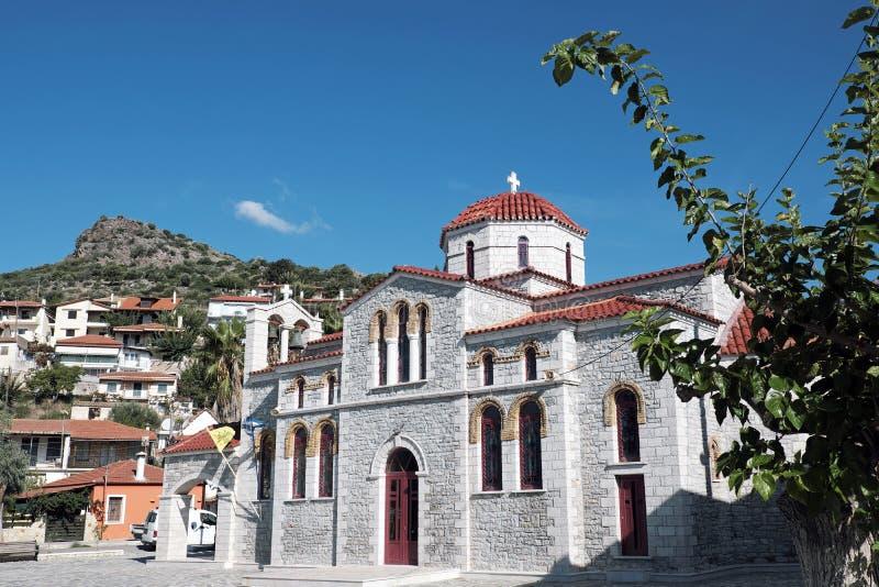 Église orthodoxe grecque, Glyfada, Phocis, Grèce photographie stock libre de droits