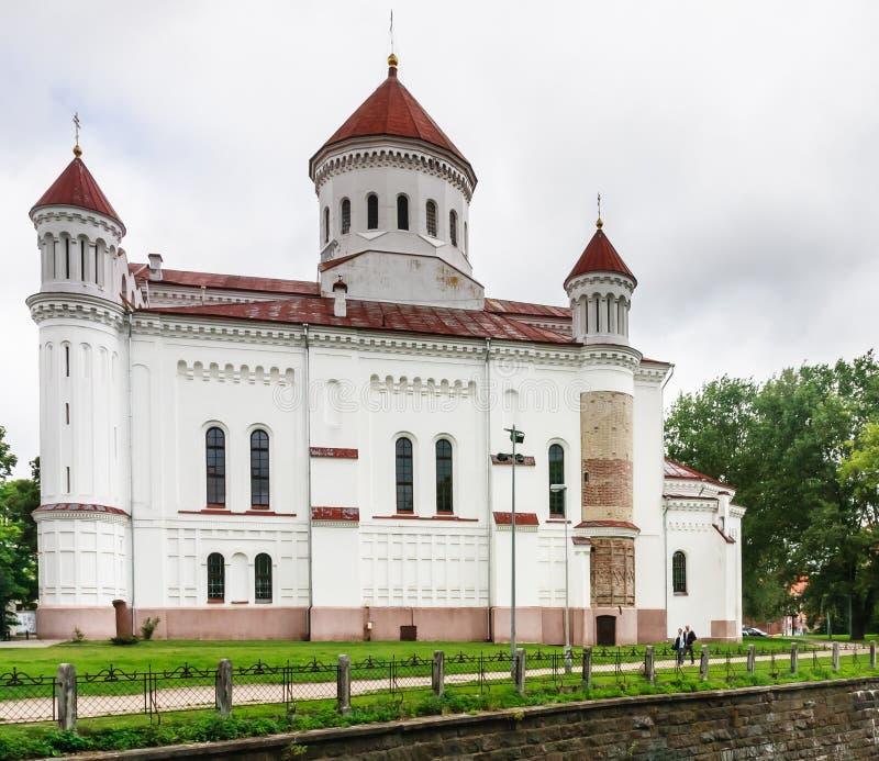 Église orthodoxe russe de mère sainte Vilnius, Lithuanie photographie stock