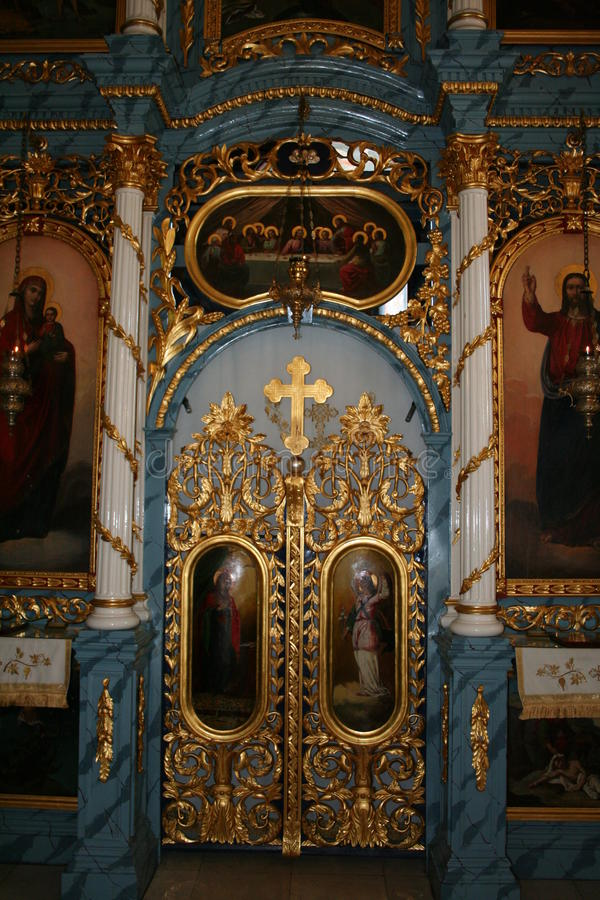 Église orthodoxe Valjevo d'Iconostas photo stock