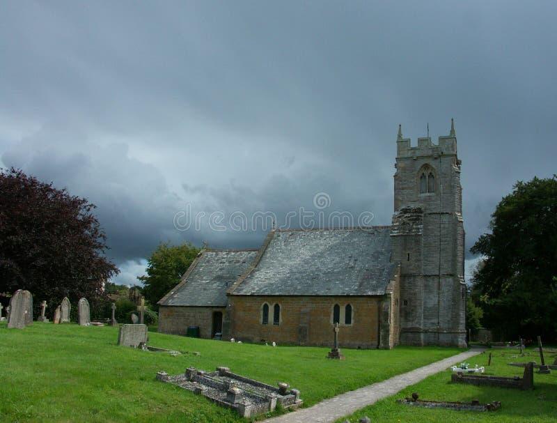Église paroissiale anglaise médiévale images libres de droits