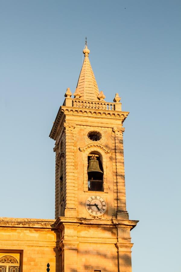 Église paroissiale de Balzan images stock