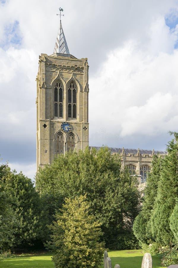 Église paroissiale de St Mary Magdalene, Gedney, le Lincolnshire, Englan images stock