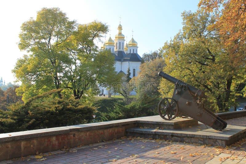 Église, paysage, Ukraine, haut axe photo libre de droits