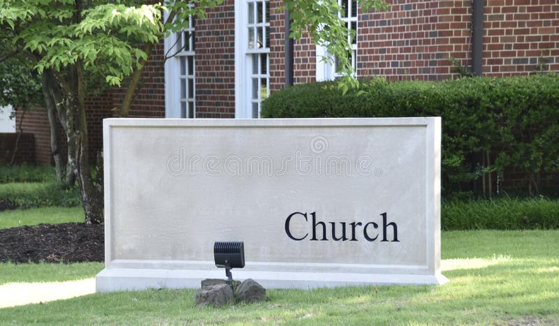 ?glise pour Christian Worship Services Sign image stock