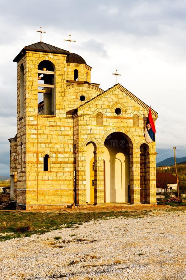 église près de Sargan, Serbie photo stock