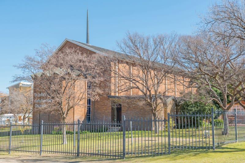 Église presbytérienne de St Johns à Bloemfontein photographie stock libre de droits
