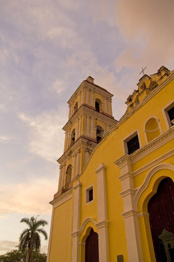 Église principale dans Remedios, Cuba images libres de droits