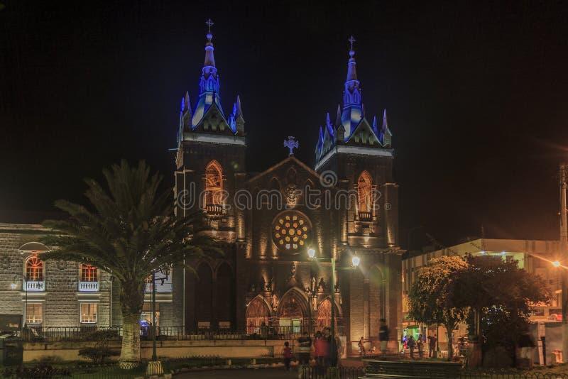 Église principale de Banos de Agua Santa photo libre de droits